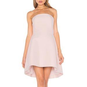 Halston Heritage Strapless Structured Dress Pink 6